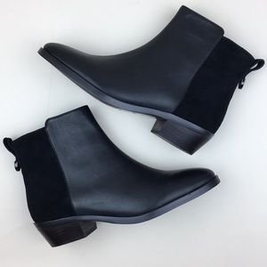 Coach Carmen Black Suede Leather Ankle Boots NEW